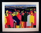 Original Serigraph by Posillico, Artist Crossing