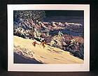 """Beautiful Serigraph by Mark King, """"Sierra Glow"""""""