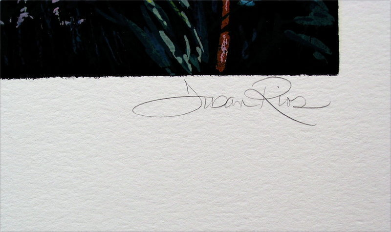 Serigraph by Susan Rios, Blacked Eyes Susan