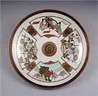 Pretty Japanese Kutani Plate Poet L19c