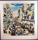 Original Serigraph by Linnea Pergola, Mulberry Street, Limited Edition