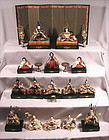 Very Fine Japanese Hina Dolls set with Fine Dougu Set