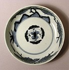 Japanese Blue and White Ko Imari Bowl, Kiri design L18c
