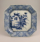 Japanese Sometsuke Ko Imari Charger Square 19c