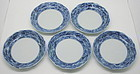 Very Fine Japanese Genroku Ko Imari Plate Set of 5 pcs, 17-18c