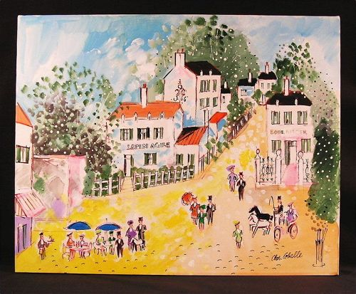 Original Oil Painting by Charles Cobelle, Lapin Agile
