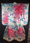 Impressive Japanese Wedding Uchikake  Robe Silk, Ho-o design