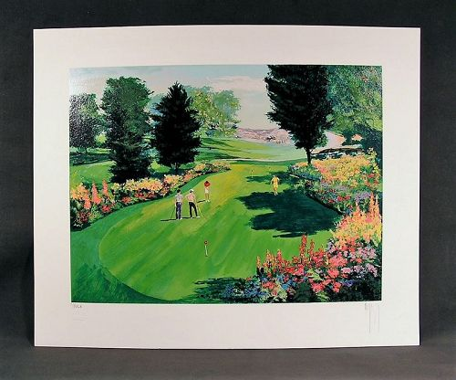 Serigraph by Mark King, Putting Green, Golf II, S/N