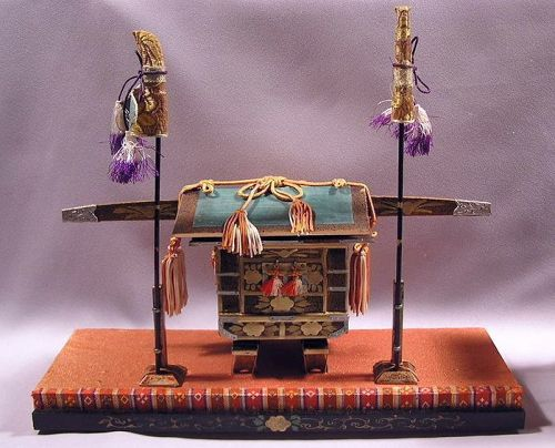 Very  Attractive Japanese Miniature Kago, Palanquin