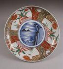 Fine quality Japanese Ko Imari Plate Crane 19c