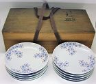 Fine Japanese Porcelain Plate Set by Seifu Yohei III Nabeshima Style
