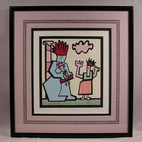 Unique Beautiful framed Serigraph #1 by Jo Ann Mulroy