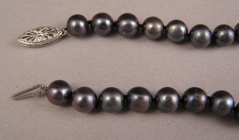 Lovely Vintage Black Pearl Necklace