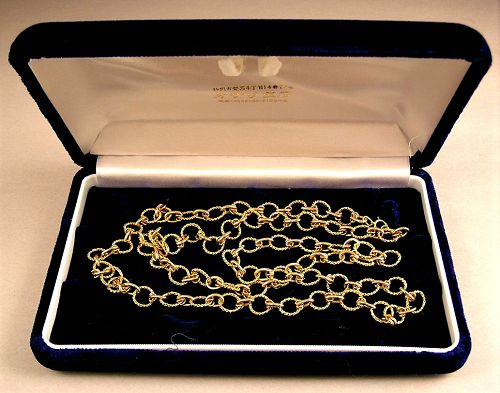 Amazingly Fine 18K Gold Chain Necklace intricately crafted
