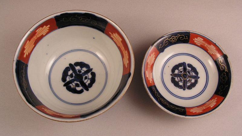 Beautiful Japanese Ko Imari Covered Bowl 19c