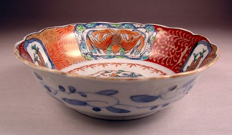 Unusual Japanese Ko Imari Bowl 19c