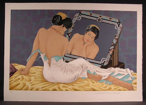 Original Serigraph by Muramasa Kudo, Reflection, Reflection