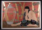 Original Serigraph by Muramasa Kudo, Goldern Dream, L/Ed, Sgnd, No'd,