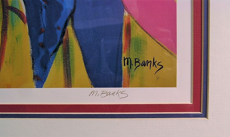 Limited Edition Lithograph Framed, by Marcia Banks, Oyster Bay