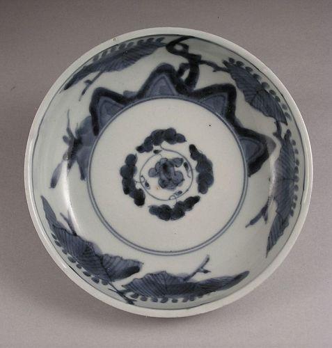 Very Old Japanese Ko Imari Blue and White Bowl Late 18c