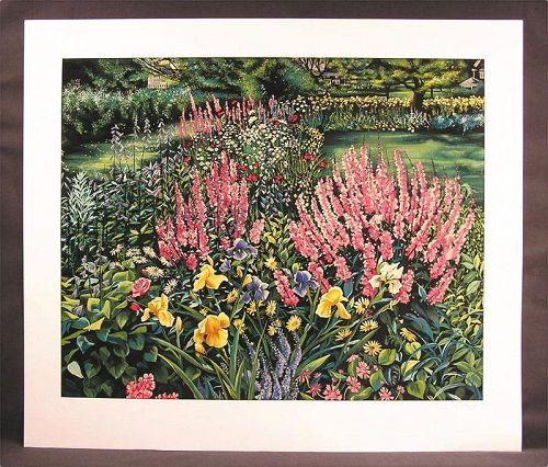 Original Serigraph by Susan Rios, Garden Memories, Limited Edition