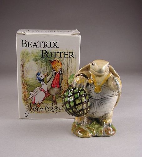 Beatrix Potter Turtle Figurine. Mr. Alderman Ptolemy.