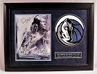 Very Rare 2002 Dallas Mavericks All Stars w/Nowitzki Framed