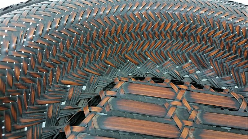 Additional photos for Japanese Antique Bamboo Basket