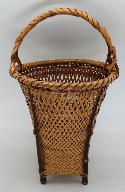 Lovely Japanese Bamboo Basket Flower Vase