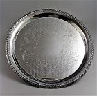 William Rogers Silver Plated Round Serving Tray 12 1/4""