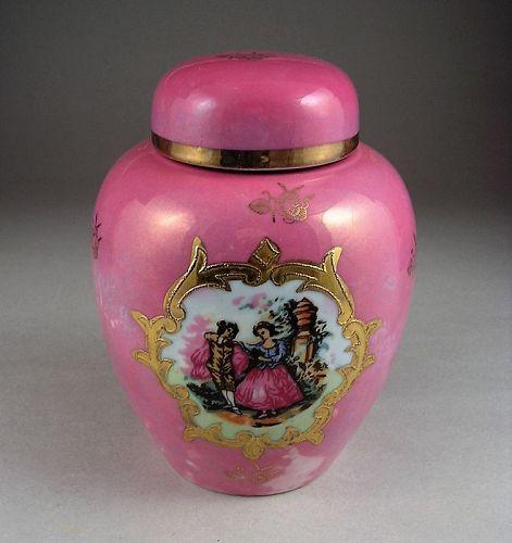 Rare Porcelain Ginger Jar Made for Melrose Ltd. Scotland