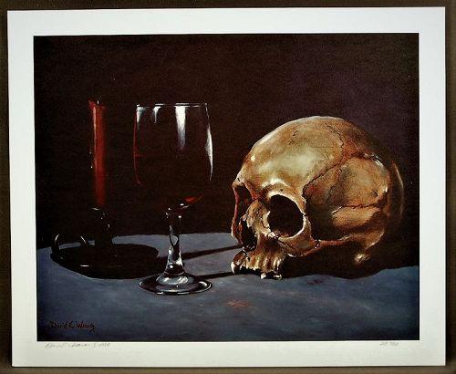 Fine Flemish Realism L/E Print David E. Weaver, Toast to the Departed