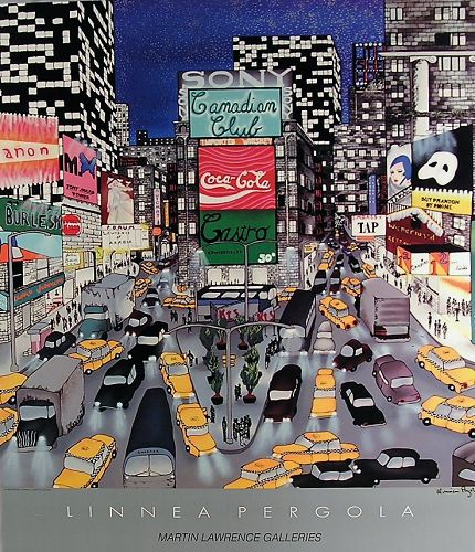Linnear Pergola Signed Poster, Sign of The Time, 1990