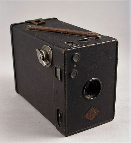Rare Agfa Box 'Version 1' Box Camera 120 Film Roll c. 1930