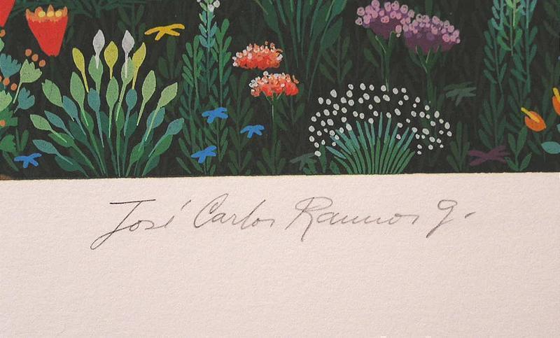 Original Serigraph by Jose Carlos Ramos