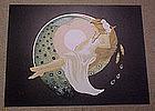 """Original Lithograph by Anne Lan, """"Les Yenv de la Nuit"""""""
