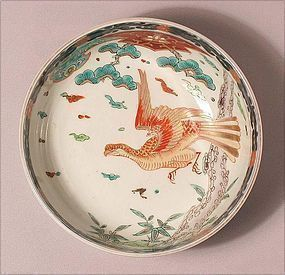 Japanese Ko Imari Large Bowl w/Eagle L19c