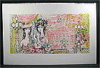 """Original lithograph by Charles Cobelle, """"Guitarist"""""""