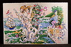 "Original Lithograph by Cobelle,""Fiddler & Mermaid"""