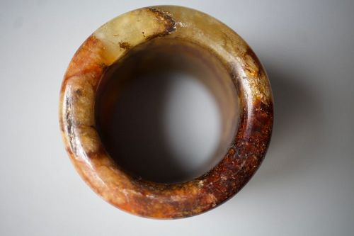 A Jade Archers ring from late Qing dynasty