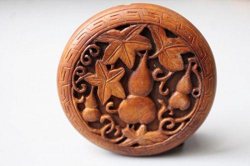 Qing Dynasty Boxwood Toggle.