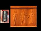 Exceptional Babylonian Hemaetite cylinder seal!