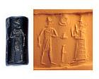 Superb condition Babylonian hematite cylinder seal!