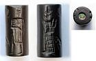 Superb Babylonian cylinder seal w bronze wire!