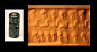 Syrian cylinder seal, exceptional engraving of heads!