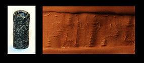 Old Babylonian cylinder in blackstone, c. 2000-1800 BC
