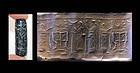 Rare & large Neo Assyrian cylinder seal, 8th.-7th. BC