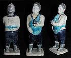 Large glazed Ming China pottery fatman musician #2!
