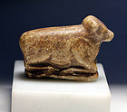 Large Mesopotamian stone amulet of a cow, c.3000 BC
