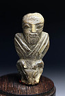 Excessively rare Sumerian bone carving of man!